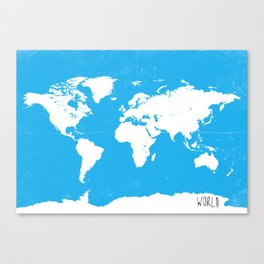 World map Travel B ocean Canvas Print