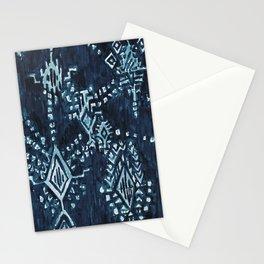 SATELLITE TRIBAL - INDIGO Stationery Cards