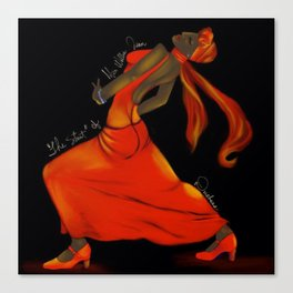 The Strut of Miss Willie Jean Canvas Print