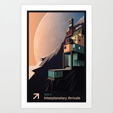 Interplanetary arrivals. Gate 2. Art Print