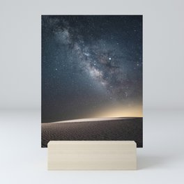 The Milky Way and White Sand Dunes of New Mexico Mini Art Print