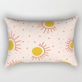 Abstract Suns Rectangular Pillow