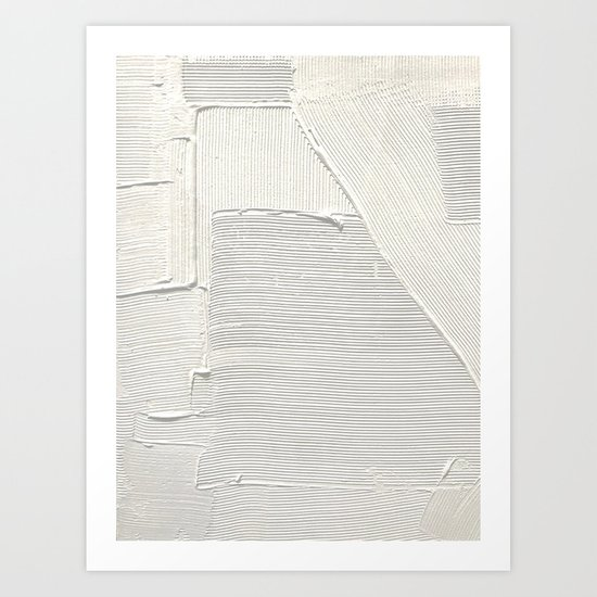 Relief [2]: an abstract, textured piece in white by Alyssa Hamilton Art by blushingbrushstudio