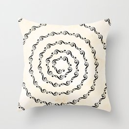 Watercolor sol key swirl Throw Pillow
