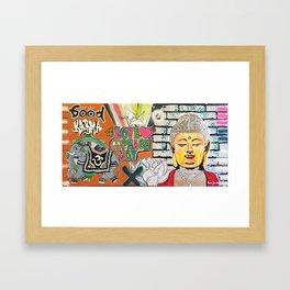 Good Karma Buddha Framed Art Print