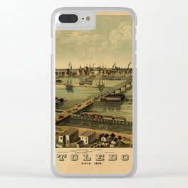 Map of Toledo 1876 Clear iPhone Case