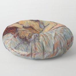 Henri De Toulouse Lautrec In Bed The Kiss Painting Floor Pillow
