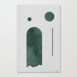Green Mid Century Canvas Print