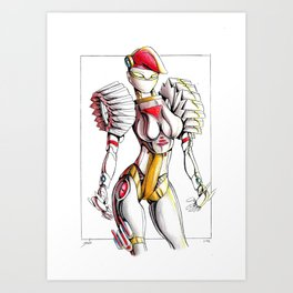 ROBOT WOMAN 1 Art Print