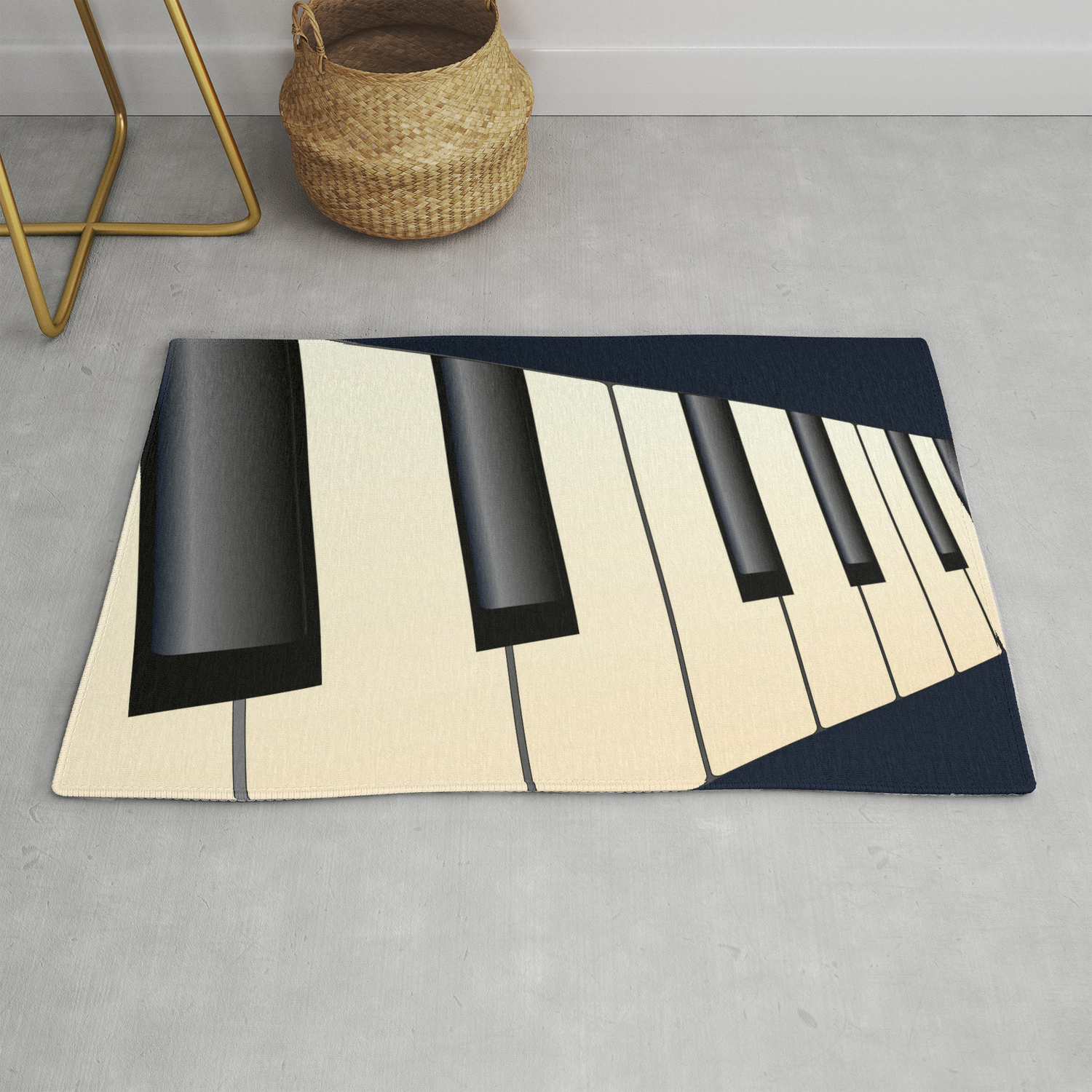 Piano Keys Perspective Rug By Homestead