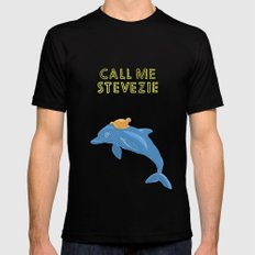the life with stevezie Mens Fitted Tee SMALL Black