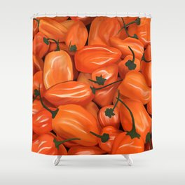 Habanero Peppers Shower Curtain
