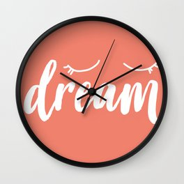 Coral Dream Wall Clock