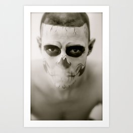 Fell In Love With Zombie Art Print