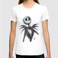 jack skellington T-shirts featuring Jack Skellington scribble by Patricia Pedroso