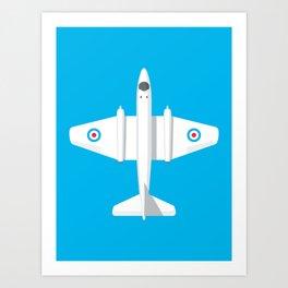 Canberra Jet - Cyan Art Print