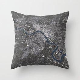 London City Map II Throw Pillow