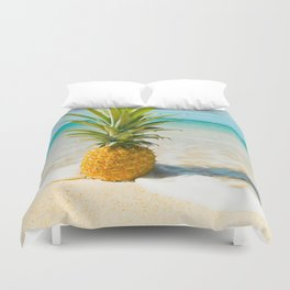 Pineapple Beach Duvet Cover