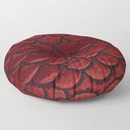 Scarlet Sable Scales Floor Pillow