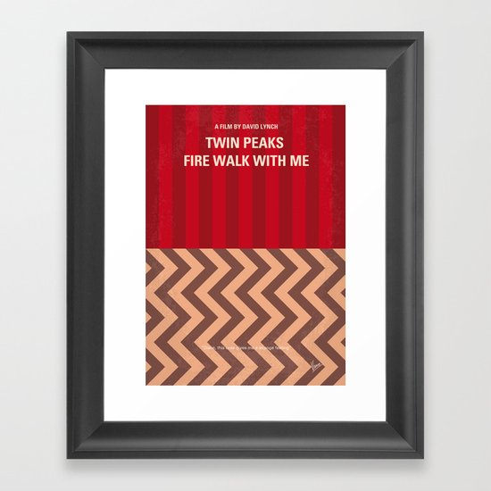 No169 My Twin Peaks minimal movie poster Framed Art Print