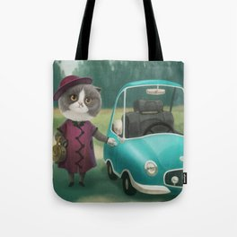 Where are you going kitty? Tote Bag