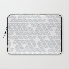 Marble triangles on white Laptop Sleeve