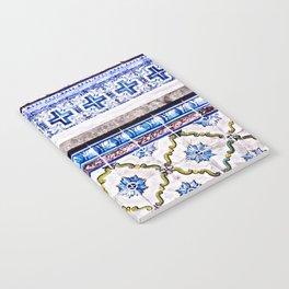 Portugal Tile, Azulejo Photo, Blue and White Lisbon Tiles Notebook
