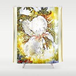 Happy Iris Shower Curtain