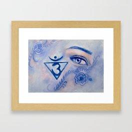 Blue Chakra Framed Art Print
