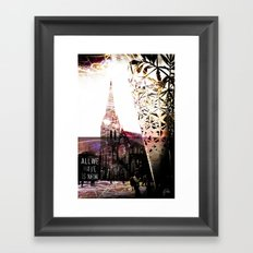 Christchurch - All We Have is Now by Debbie Porter - Designs of an Eclectique Heart Framed Art Print