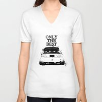 "honda V-neck T-shirts featuring ONLY THE BEST ""HONDA"" by Consuelo Castaneda"
