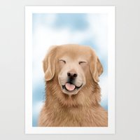 glee Art Prints featuring Golden Glee by audreys.art