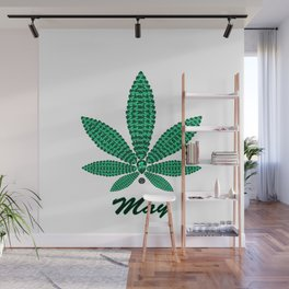 Birthstoned Leaf of Month, May Emerald Wall Mural