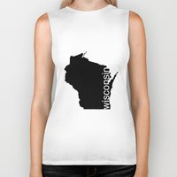 wisconsin Biker Tanks featuring Wisconsin by Isabel Moreno-Garcia