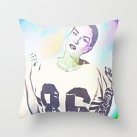 indiana Throw Pillows featuring Indiana by Enna