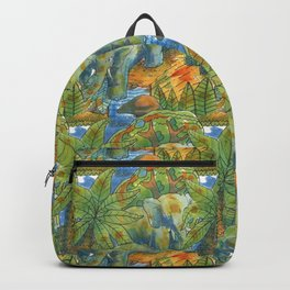 africa pattern elephant Backpack