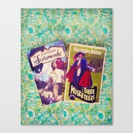 Swashbuckling Books Canvas Print