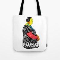 fat Tote Bags featuring Fat Woman by R. Gorkem Gul