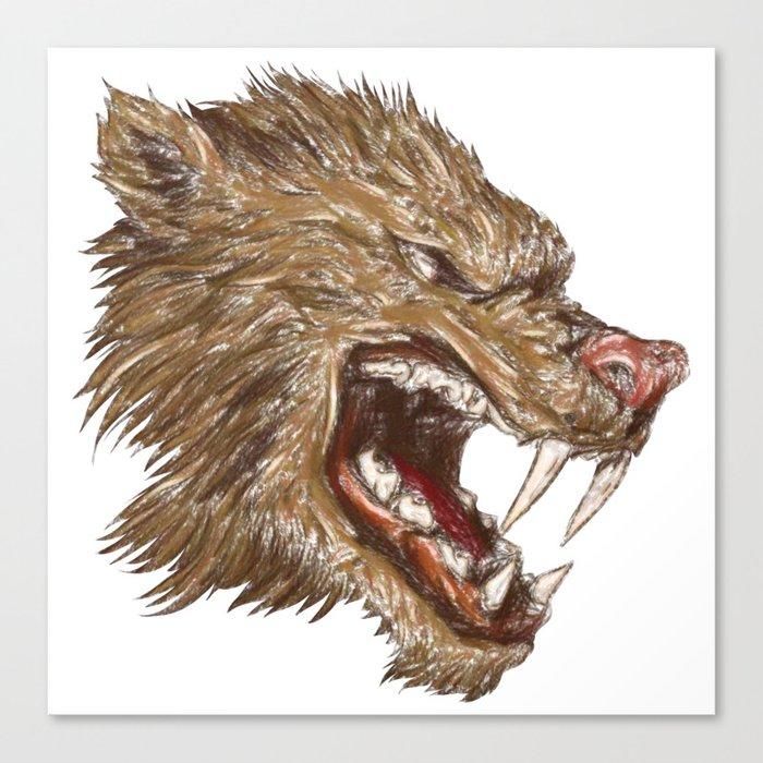 Head with sharp teeth Canvas Print