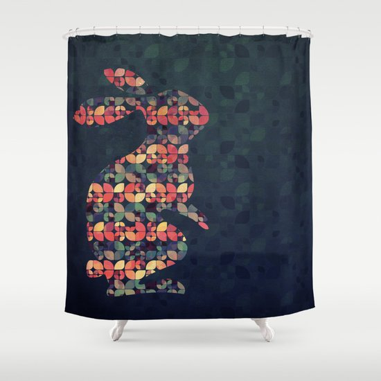 The Pattern Rabbit Shower Curtain