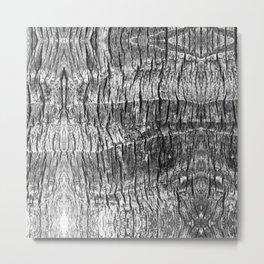 gray wood grain texture biophilic wood nature print Metal Print