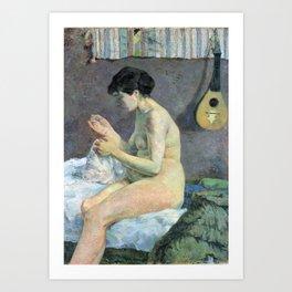 Paul Gauguin - Woman Sewing Art Print