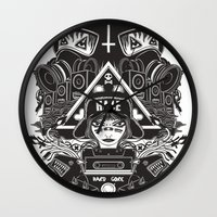 gore Wall Clocks featuring hard gore by Andrea Moresco