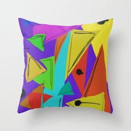 Cages at the Border #Abstract #Geometric #PoliticalArt Throw Pillow
