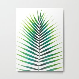 Tropical Palm Leaf #1 | Watercolor Painting Metal Print