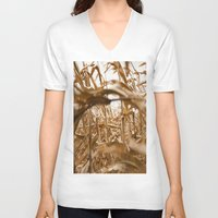 wind V-neck T-shirts featuring Wind by Alley Guscott