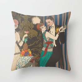 George Barbier Dance Fashion and Manners Today 1912 Throw Pillow