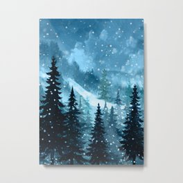 Winter Night Metal Print