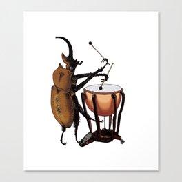 Beetle Tries Timpani Canvas Print