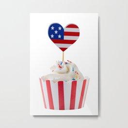 Independence day cupcake Metal Print